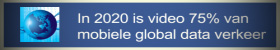 In 2020 is video 75% van mobiele global data verkeer
